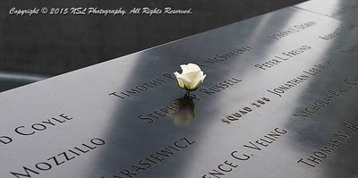 At the 9-11 Memorial, New York City, Stephen P. Russell