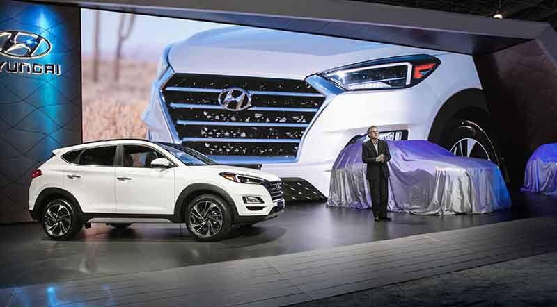hyundai unveils full lineup of 2019 crossovers at the new