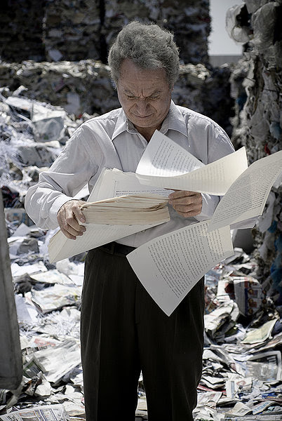 Close up on Eliezer discarding his work