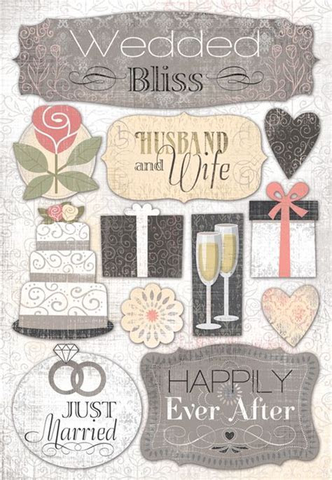 Karen Foster Design   Wedding Collection   Cardstock