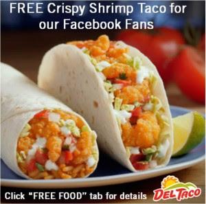 Del Taco: Free Crispy Shrimp Taco (Facebook)
