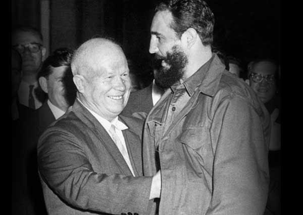 Resultado de imagem para fidel castro e nikita kruschev
