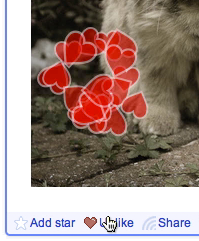 Hearts when like-ing an item