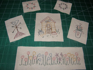 Garden Journal Stitching