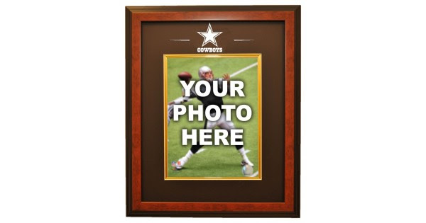 Dallas Cowboys 8x10 Photo Ready Made Frame System Brown