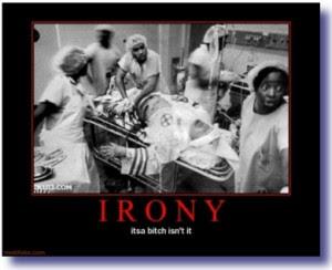 irony kkk black hospital demotivational 300x244 Hurricane Sandy Destroys Republican Ideology