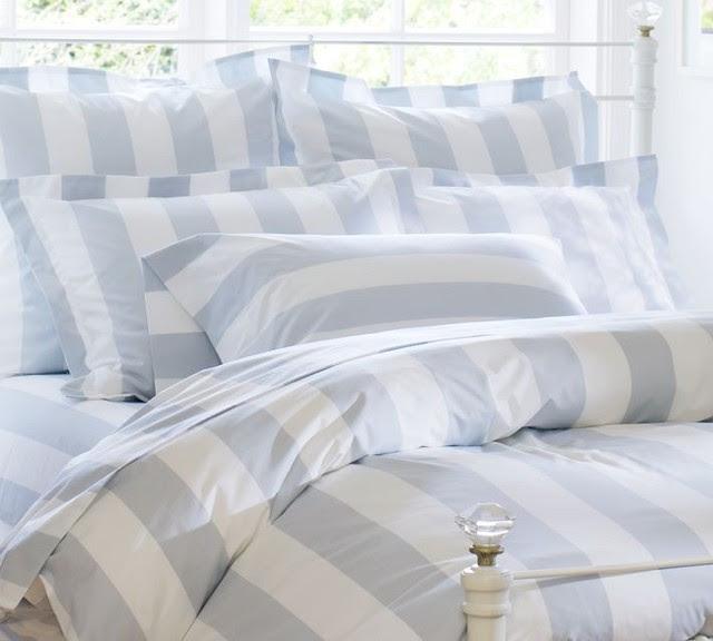 PB Classic Stripe 400-Thread-Count Duvet Cover & Sham, Porcelain ...