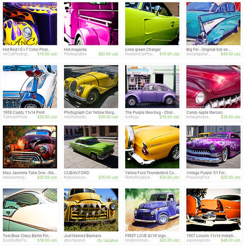 Cool Cars Etsy Treasury