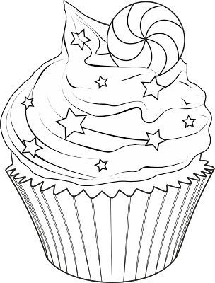 cupcake coloring pages  free printable cupcake coloring pages  zentangle  pinterest