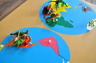 Dinosaurs on the Map Montessori
