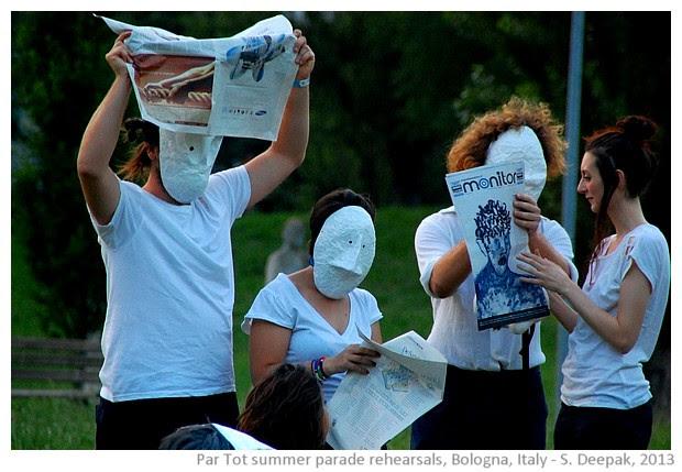 Partot parade rehearsals, Bologna, Italy - images by Sunil Deepak, 2013