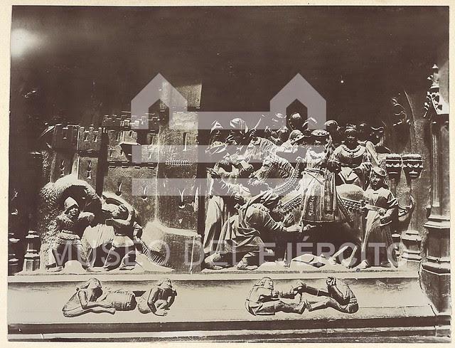 Sillería del coro de la Catedral hacia 1904. Fotografía de Casiano Alguacil © Museo del Ejército, Ministerio de Defensa