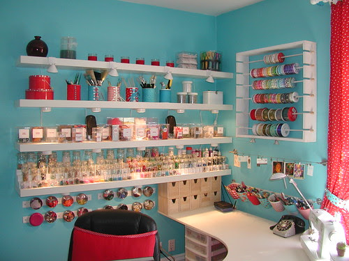 Shelves, Magnetic Rack, Ribbon Rack, Tools - North East Corner by Crafty Intentions.