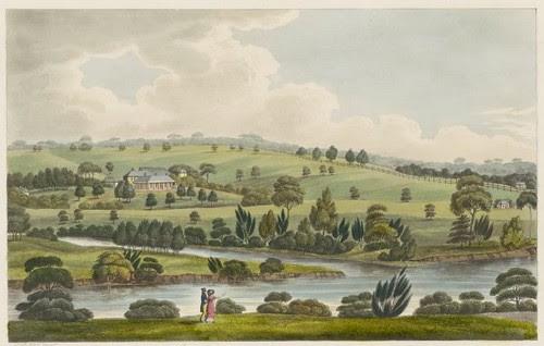 The residence of John McArthur Esqre. near Parramatta, New South Wales 1825 (Joseph Lycett)