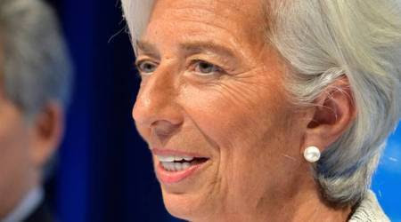IMF chief Christine Lagarde says market fluctuations aren't worrying