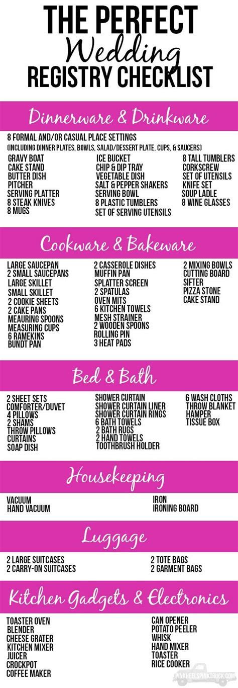 It?s the PERFECT wedding registry checklist! This list has