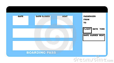 Blank Airline Boarding Pass Ticket Stock Photos, Images ...