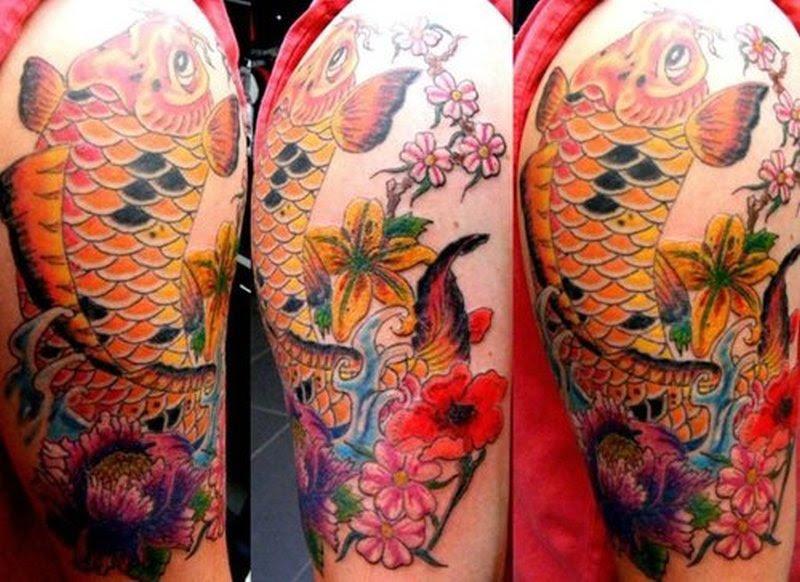 Japanese Flower Half Sleeve Tattoo Tattoos Book 65000 Tattoos