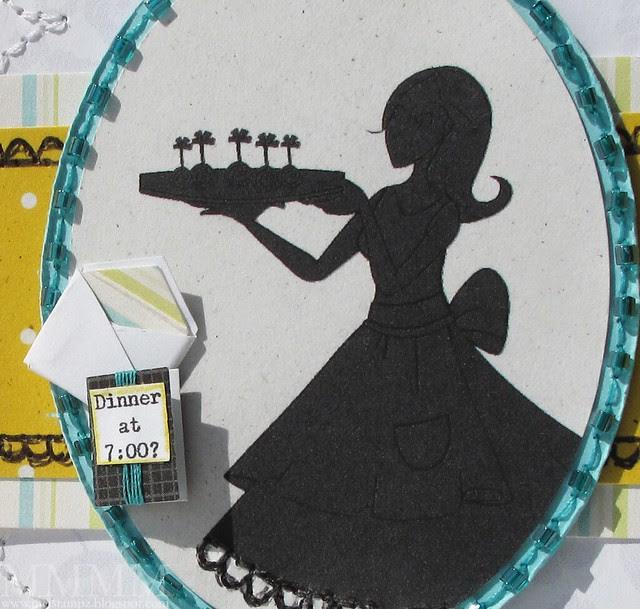mini invite & envelope & sihouette detail Amber Ink Hostess