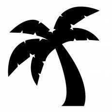 椰子の木シルエット イラストの無料ダウンロードサイトシルエットac