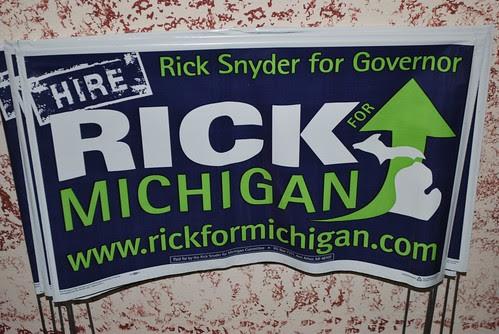 Rick Snyder for Governor Yard Sign
