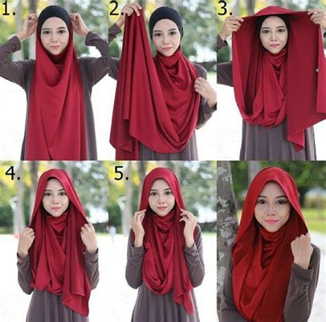 easy hijab style steps tutorial hijabiworld