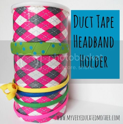 #DuctTape #headband #organizing #DIY #recycling