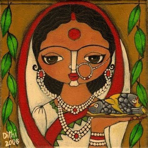 Bengali wedding paintings   Art and design inspiration