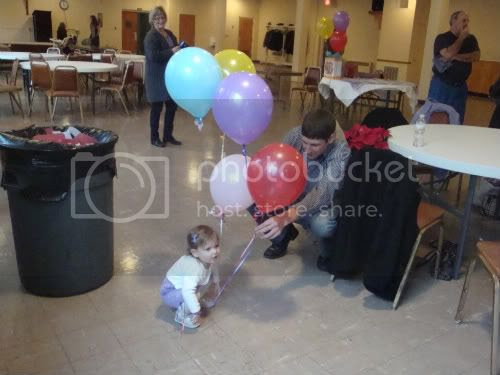 Matt, Abby and balloons