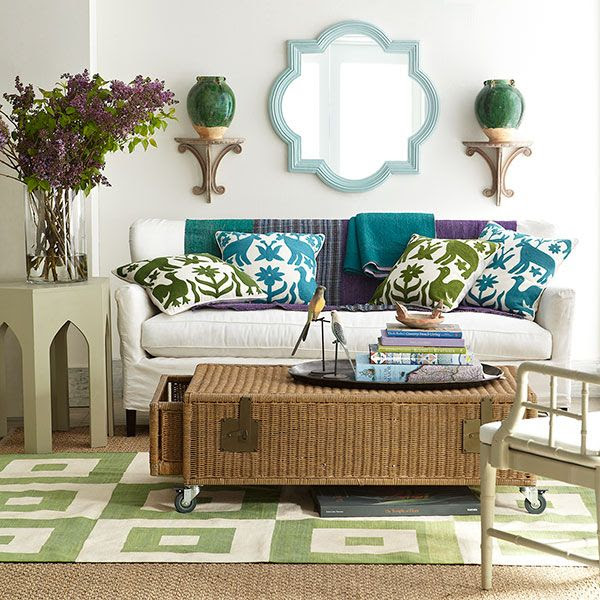 Wisteria - Accessories - Shop by Category - Throw Pillows - Otomi Pillow - Turquoise - $69.00