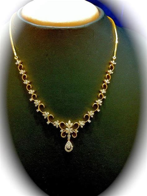 Simple Diamond Necklace photo   jewelry design collection