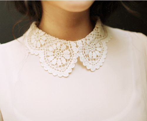 white lace collar