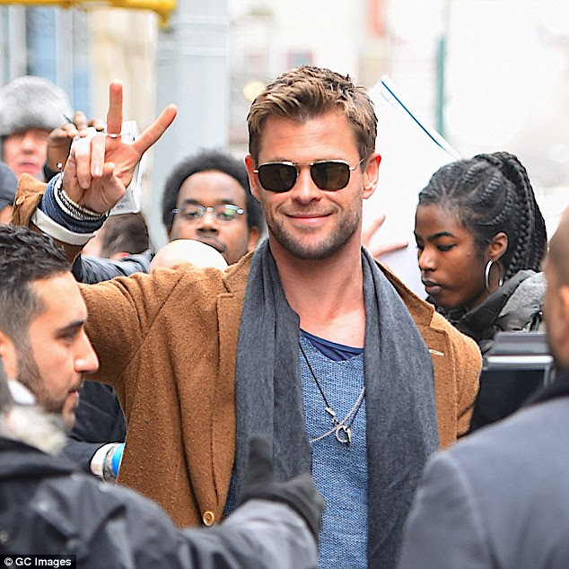 New gig? Chris is said in early talks with Sony Pictures to play an agent from the secret government organisation that protects earth from alien and space threats