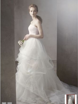 2011 Princess White Tulle Bridal Wedding Dress Ball Gown ETT001