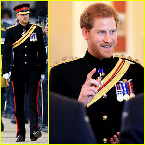 Prince Harry Dons Military Uniform for RAF Honington 75th Anniversary Ceremony!