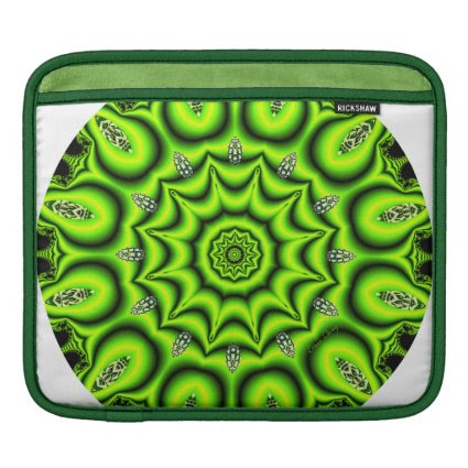 Spring Garden Mandala, Bright Abstract Lime Sleeves For iPads