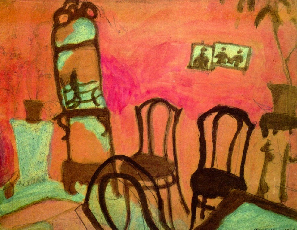 Small Drawing Room, 1908 Marc Chagall