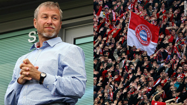 "Russian billionaire Abramovich has owned 100% of Chelsea since buying the club in 2003. Bayern, on the other hand, is 82% owned by fans -- most German clubs are governed by the ""50+1"" rule to protect them from aggressive takeovers."