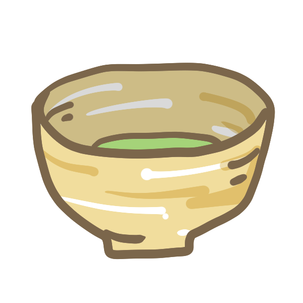 お抹茶のイラスト かわいいフリー素材が無料のイラストレイン