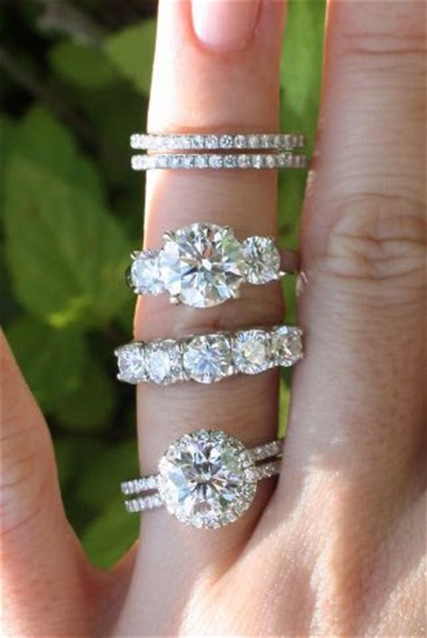 Halo Diamond Ring, Three Stone Ring, Five Stone Ring, and