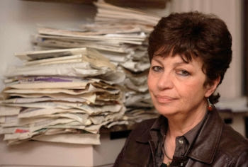 Claire Levy in Sofia in 2012. (Courtesy of talesofladino.wordpress.com)