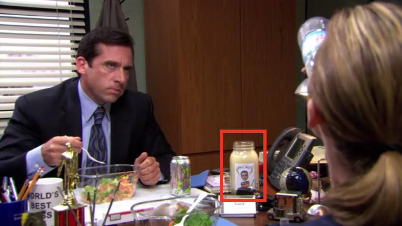 Image result for michael scott salad dressing