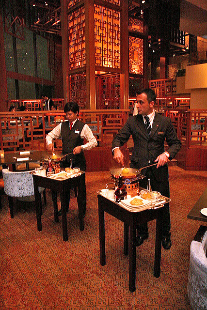 Crepe Suzette flambed by your tableside