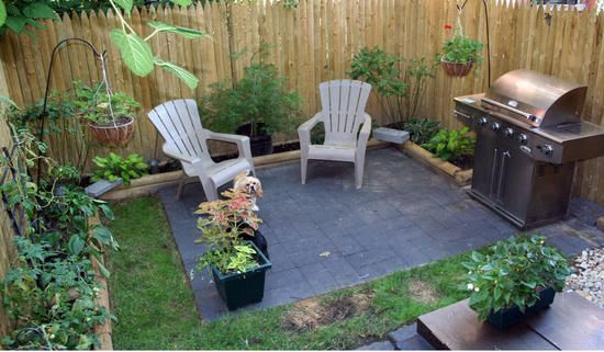 Backyard patio designs small yards