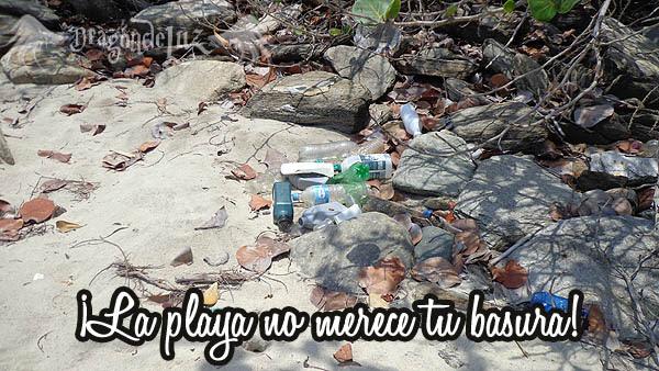 la playa no merece tu basura