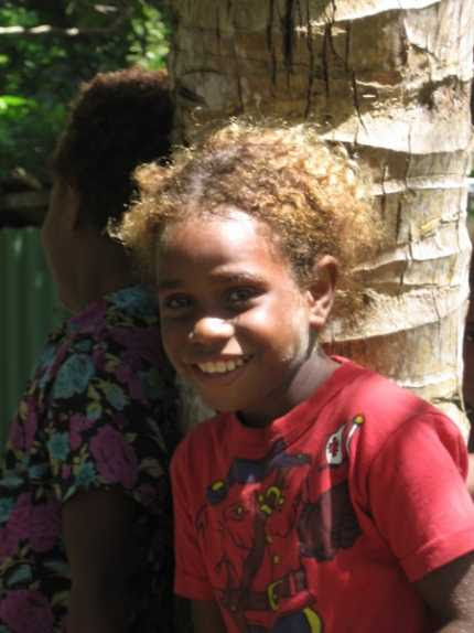 the Solomons' gene is much more common there than blondness in any European country