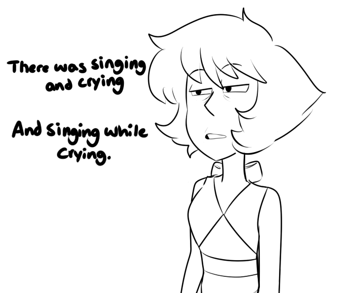 Or was it crying while singing?