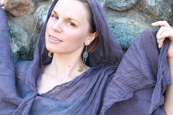 CELESTIAL MOON Asymmetrical Chandelier Earrings