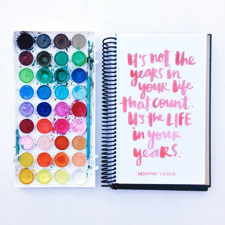Watercolor brush Lettering: i miei preferiti!