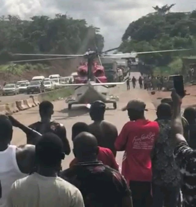 Nigerian Civil Aviation Authority begins investigation into helicopter landing on Benin-Ore Highway